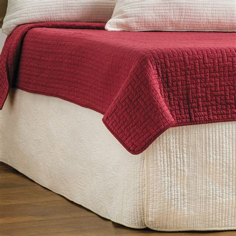 queen bed skirt ivy hill home winslet quilted bed skirt queen 5770u
