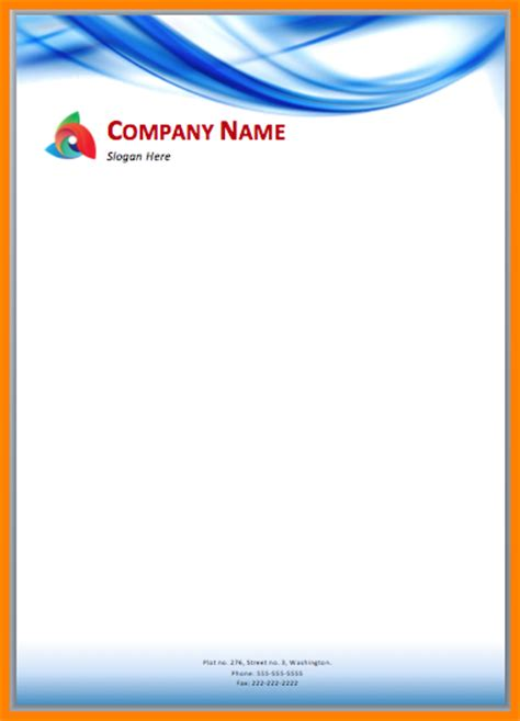 Business Letterhead Format In Word Free 9 Letterhead Design In Word Format Free Sle Of Invoice