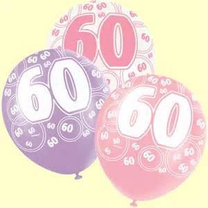 Bday Decorations At Home 60th Birthday Balloons Pink And Silver Pack Of 6 Party