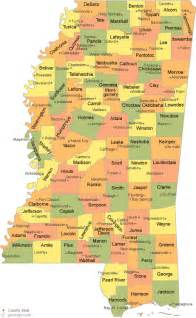 counties map with cities mississippi county map