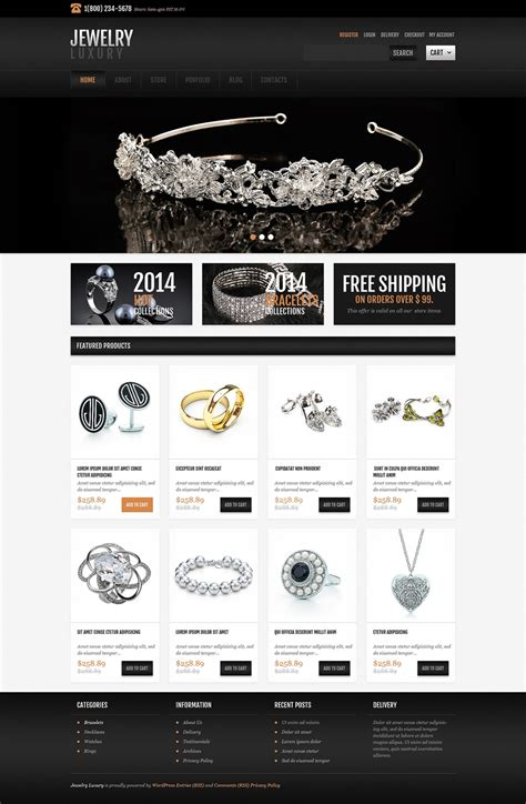 bootstrap themes gem diamond store jewelry responsive jigoshop themes