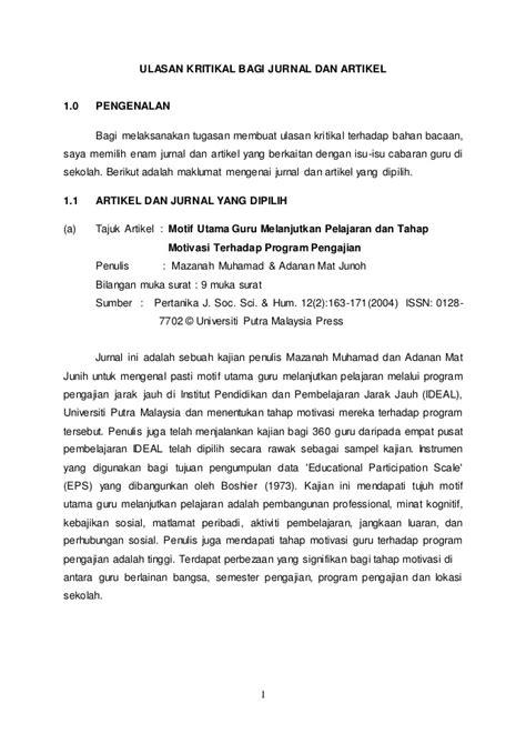 cara membuat kritikan jurnal 134819243 tugasan ulasan kritikal jurnal dan artikel