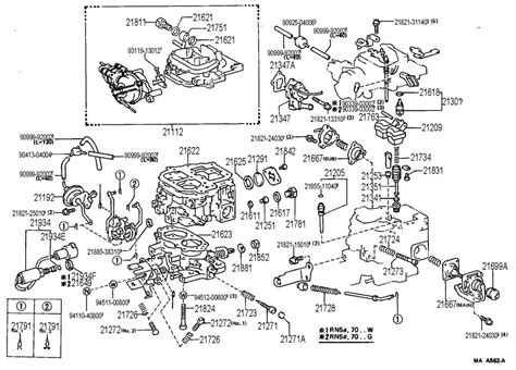 1985 Toyota Parts 1985 Toyota Carburetor