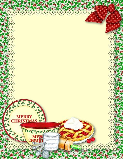 free printable recipe card borders 17 best images about recipe paper on pinterest back to