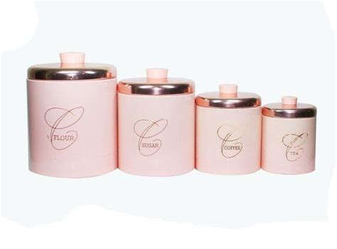 pink kitchen canister set vintage pink kitchen metal canister set shabby chic
