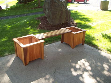 bench planter t l planter bench set wood country