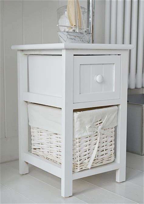 Small Bathroom Storage Drawers Bar Harbor Small White Bathroom Storage Furniture With 3 Drawers
