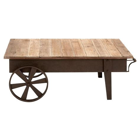 Cart Style Coffee Table Expressions Shop Cart Style Coffee Table Metal And Wood Expressions Furniture
