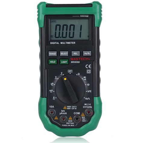 high voltage capacitor tester mastech ms8268 auto manual digital multimeter ac dc voltage capacitance tester ebay