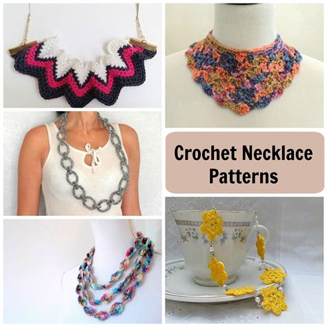 What Do You Think Of These Crocheted Earrings by 10 Stash Busting Crochet Necklace Patterns Craftsy