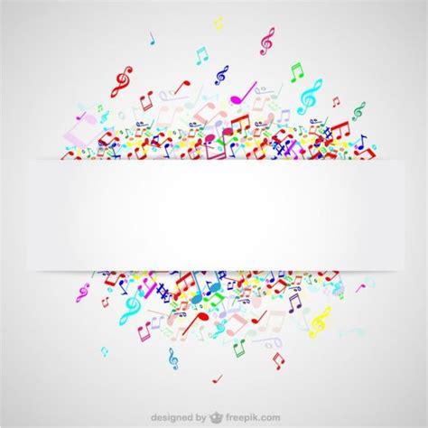 imagenes notas musicales gratis notas musicales de colores fotos y vectores gratis