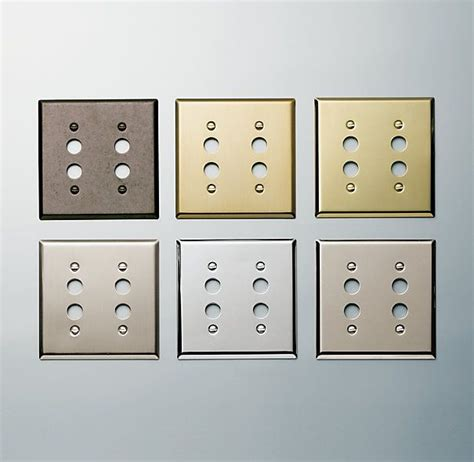 Push Button Switch Plate Restoration