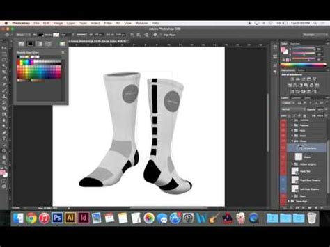 Customizable Sock Template Demo Http Www Impaul Co Youtube Sock Design Template
