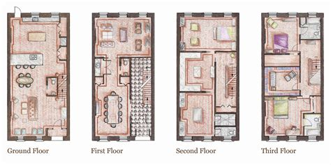nyc brownstone floor plans the brownstone kathryn johnson archinect
