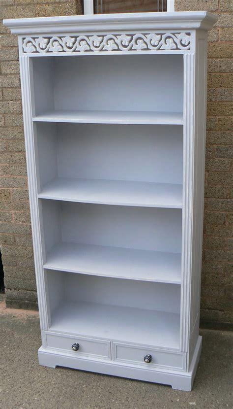 chalk paint bookshelf bookcase in autentico cement chalkpaint inspiration to