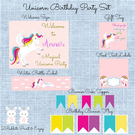 printable unicorn party magical unicorn birthday party my practical birthday guide