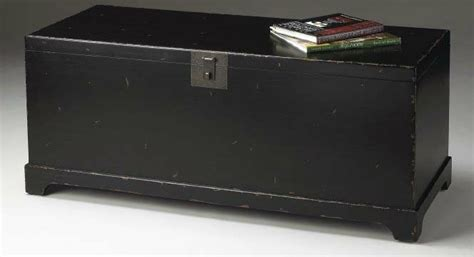 Black Trunk Coffee Table Large Trunk Coffee Table Black By Home Elements
