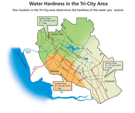 san jose water hardness map water districts images
