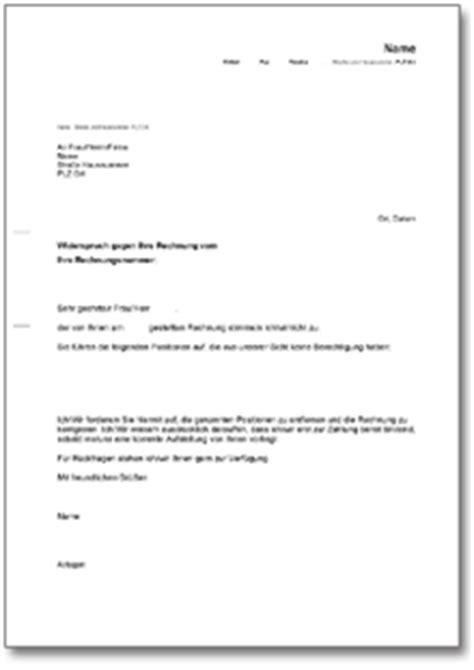 Word Vorlage C4 Mit Fenster Widerspruch Rechnung De Musterbrief