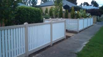 Free Standing Outdoor Shower - fencing privacy picket fencing capped picket fencing mathos pvc fencing australia