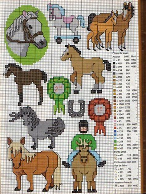 pattern xsd d sticken pferde cross stitch horses free pattern schema