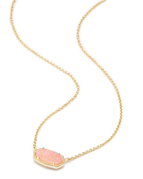 Shoptagr Elisa Pendant Necklace In Light Pink Drusy By