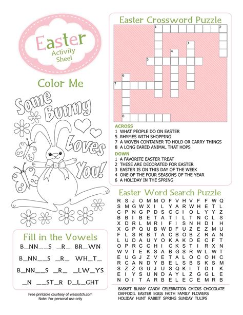 printable kids activities free coloring pages of easter activities pages