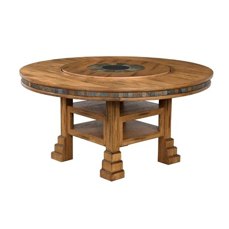 Dining Table With Lazy Susan Designs Sedona 60 Quot Dining Table With Lazy Susan 1225ro