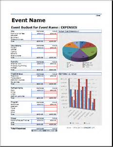 event budget templates formal generic event budget template free formal word