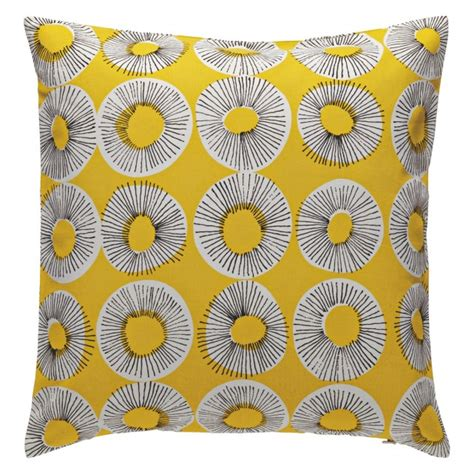 yellow patterned cushions evelyn yellow patterned cushion 45 x 45cm buy now at