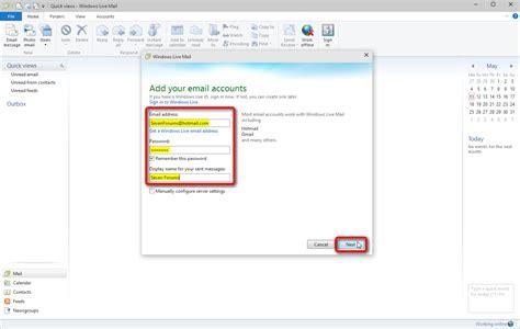 windows 10 live mail tutorial windows live mail setup and use windows 7 help forums