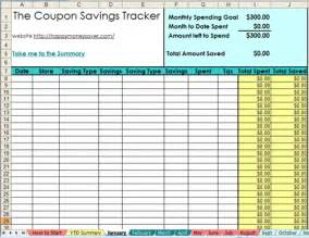 Coupon List Template 2013 Coupon Savings Tracker Spreadsheet Happy Money Saver
