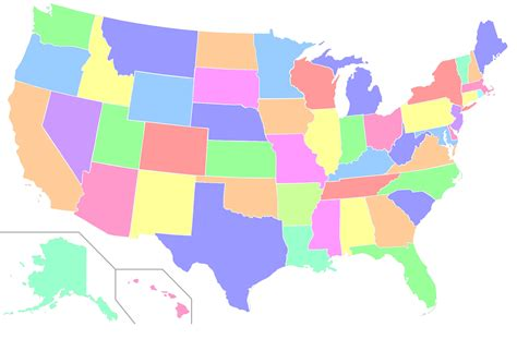 blank us map that can be color coded pre survey 7th grade social studies
