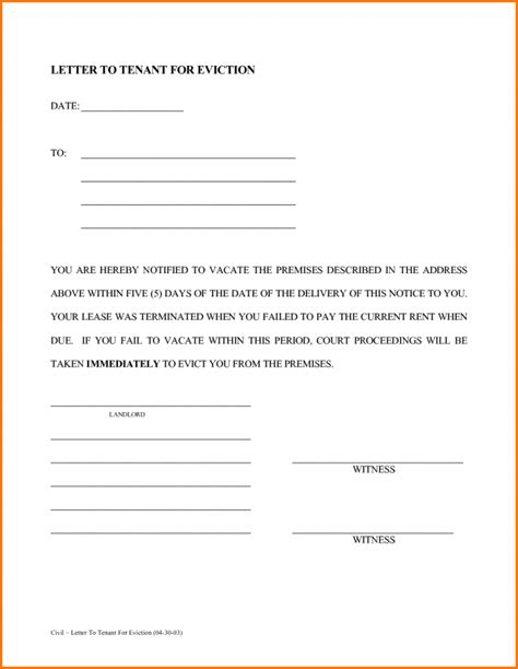 printable eviction notice kentucky eviction notice template exle mughals