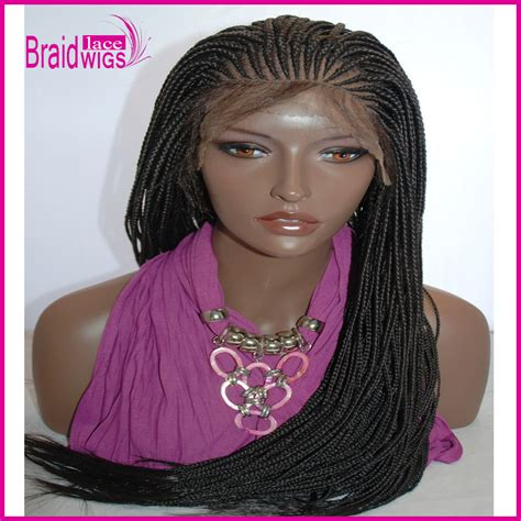 wigs made for black people that are braided glueless cornrow braid synthetic lace front wigs braided