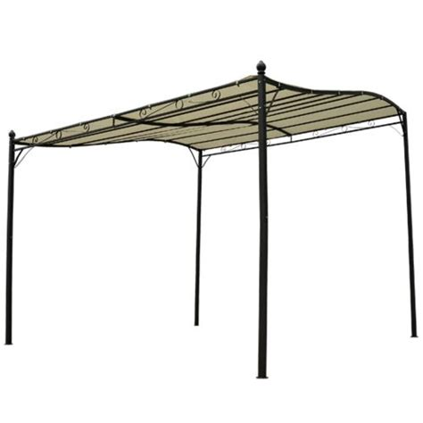 gazebo pergola 3x2 homcom pavillon abri pergola jardin gazebo tonnelle