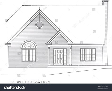 Front Elevation House Plan Stock Photo 1152416 Shutterstock Building Plan And Front Elevation