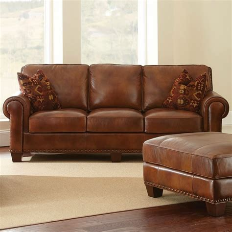 brown leather settee brown sofa bed smileydot us
