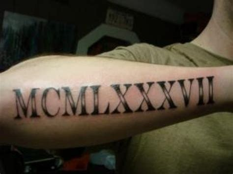 cool roman numeral tattoo designs numerals on half sleeve by joe heycock