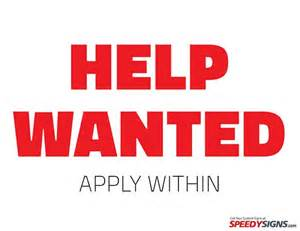 Help Wanted Template by Free Help Wanted Apply Within Printable Sign Template