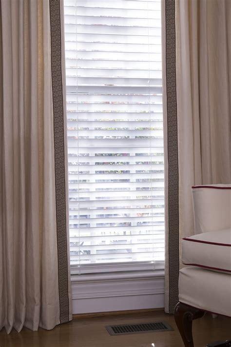 greek key drapery panels lined cream linen drapery panels with greek key trim