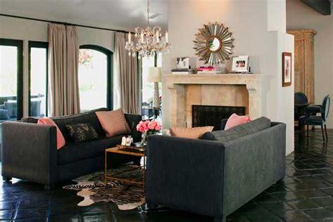 modern interior decorating ideas blending gray  pink