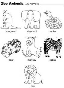 free coloring pages of zoo animals preschool