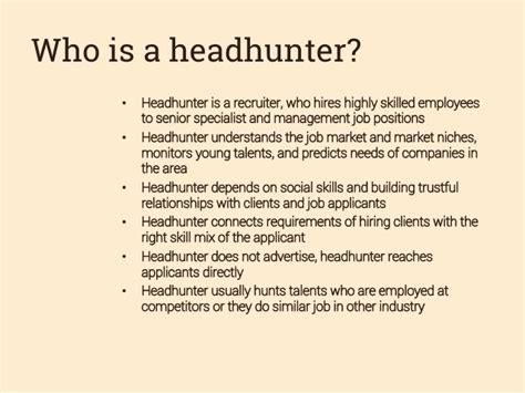 how to become a headhunter