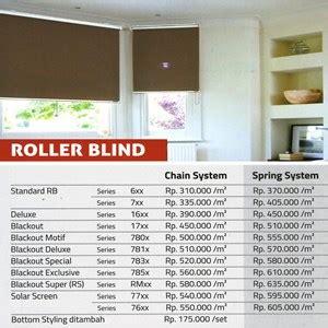 Harga Roller Blind Shinichi jual roller blind harga murah jakarta oleh shinichi interior