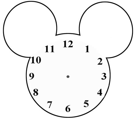 blank clock templates for teaching time clipart best