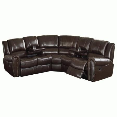 brown leather reclining sectional camden dark brown italian leather reclining sectional sofa