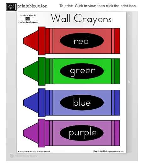Doodlebug S Homeschool Printable Wall Crayons Pictures To Print Out And Color