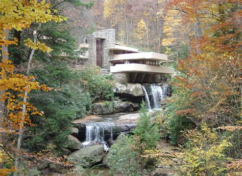 water falling fallingwater one of the most famous houses in the world