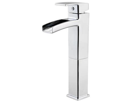 Trough Faucet by Chrome Modern Waterfall Trough Vessel Faucet